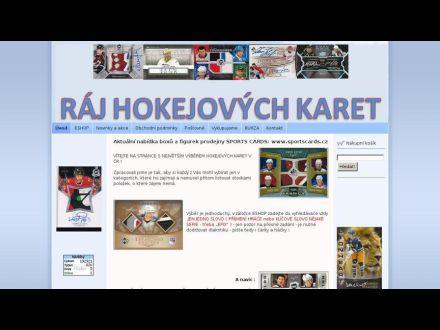www.rajhokejovychkaret.cz