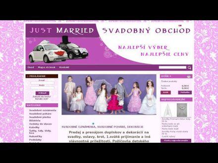 www.justmarried.sk