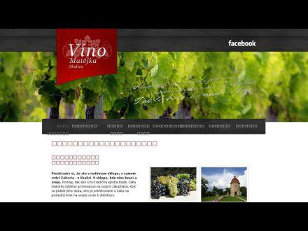 www.vino-matejka.sk