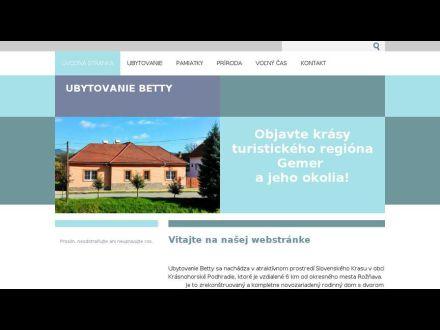 www.ubytovaniebetty.webnode.sk
