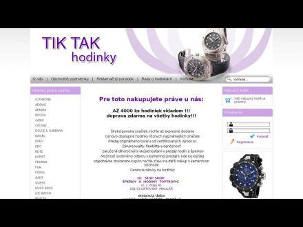 www.tiktakhodinky.sk
