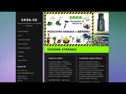 www.saxa.sk
