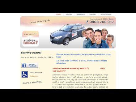 www.autoskolaradost.sk