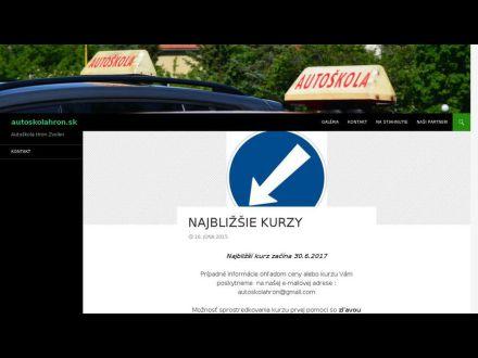 www.autoskolahron.sk