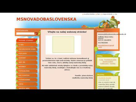 www.msnovadobaslovenska.webnode.sk