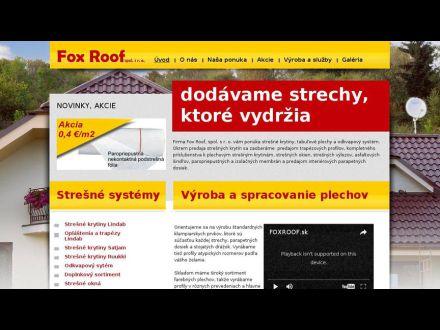 www.foxroof.sk