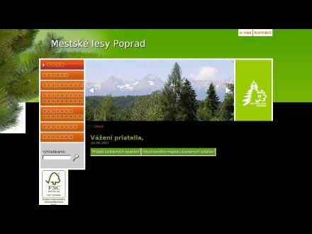 www.lesypoprad.sk