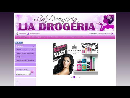 www.liadrogeria.sk