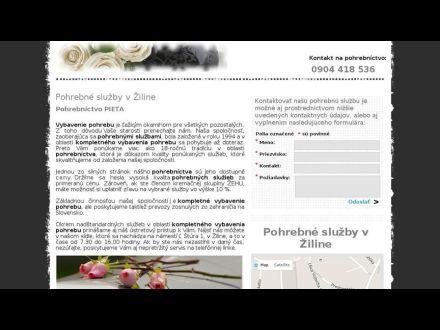 www.pohrebnasluzbazilina.sk
