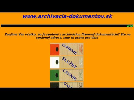 www.archivacia-dokumentov.sk