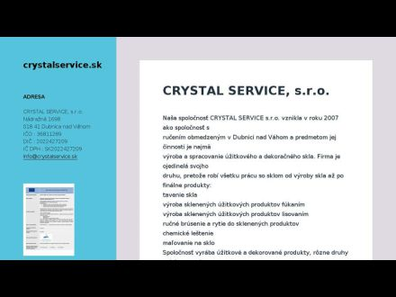 www.crystalservice.sk