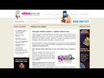 www.vyklad-snov.sk