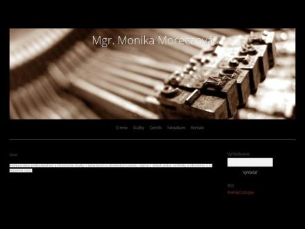 www.monika-moreczova.estranky.sk