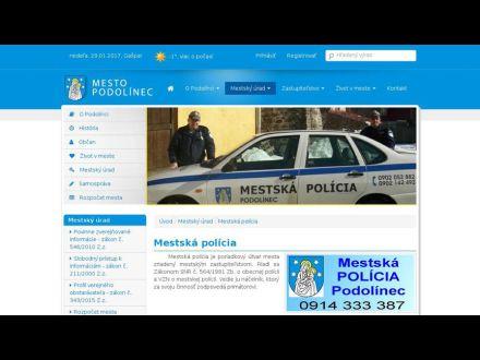 www.podolinec.eu/mestska-policia