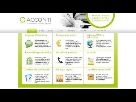 www.acconti.sk