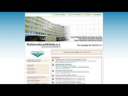 www.ruzinovskapoliklinika.sk