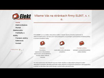 www.elekt.sk