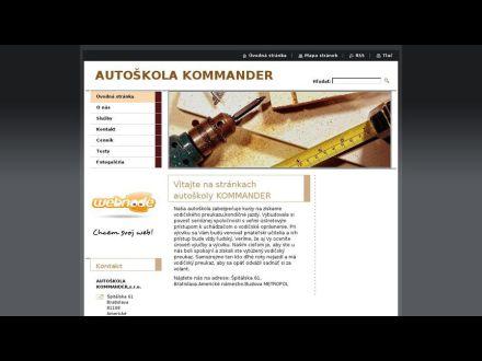 www.autoskola-kommander.sk