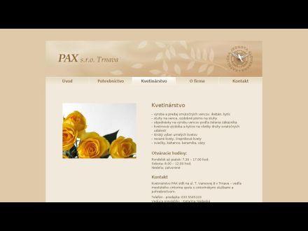 www.paxtrnava.sk/kvetinarstvo