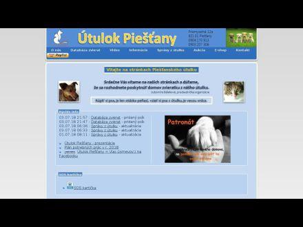 www.utulok-piestany.sk