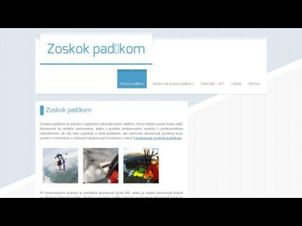 www.zoskok-padakom.sk