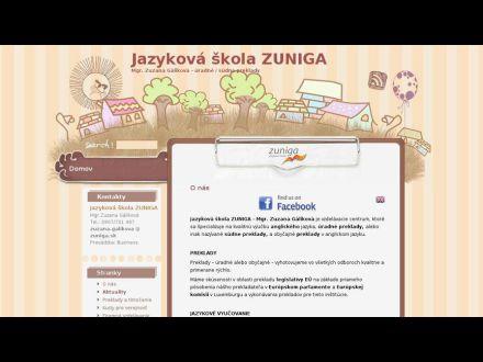 www.zuniga.sk