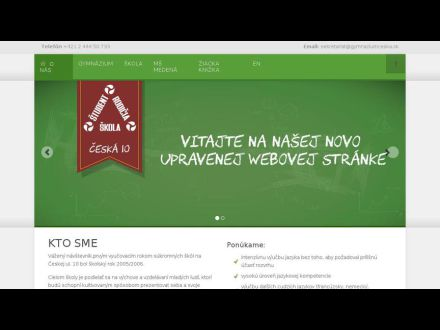 www.gymnaziumceska.sk