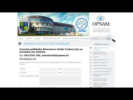 Oravská poliklinika Námestovo ae051286e5c