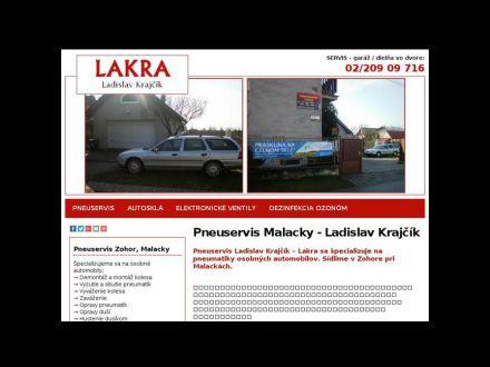 www.pneuservislakra.sk