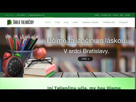 www.skolatalianciny.sk
