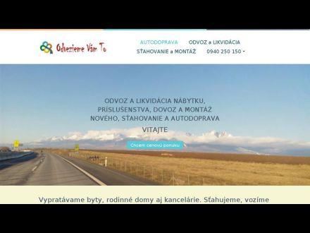 www.odveziemevamto.sk