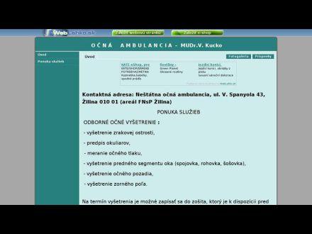 www.ocnekucko.wbl.sk