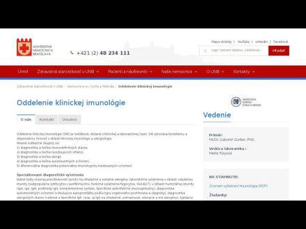www.unb.sk/oddelenie-klinickej-imunologie